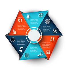 hexagon element for infographic vector image