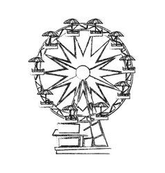 Isolated ferris wheel design vector