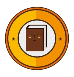 Justice book isolated icon vector