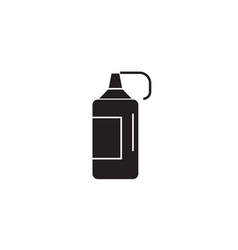 ketchup bottle black concept icon ketchup vector image