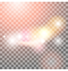 Light effects on transparent background vector image