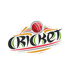 logo for cricket sport vector image