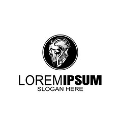 logo vintage style gladiator logo design template vector image