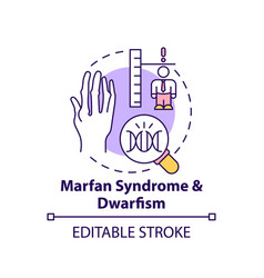 Marfan syndrome and dwarfism concept icon vector