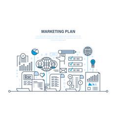 marketing plan business advertising e-commerce vector image