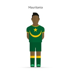 Mauritania football player Soccer uniform vector