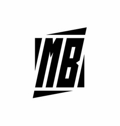 Mblogo monogram with modern style concept design vector