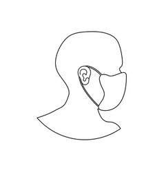medical respirator immunity mask vector image