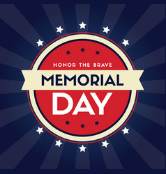 memorial day background greeting card vector image