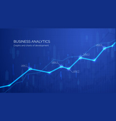 monitoring finance profit and statistic graph vector image