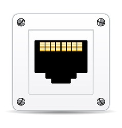 network plug vector image