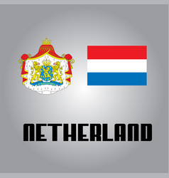 Official government elements of netherland vector