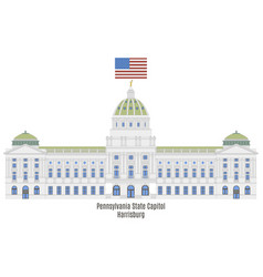 pennsylvania state capitol vector image