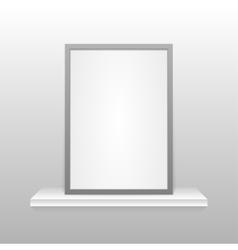 Photo frame on the shelf Eps 10 vector image
