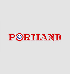 Portland city name vector