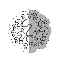 question mark image outline vector image