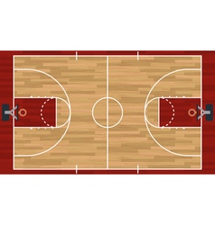 Realistic Basketball Court vector image