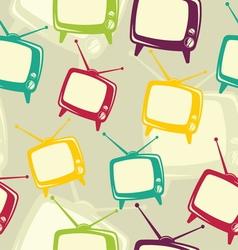 Retro tv icon pattern vector image