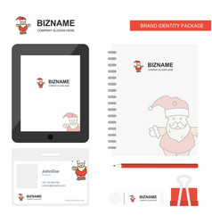 santa clause business logo tab app diary pvc vector image