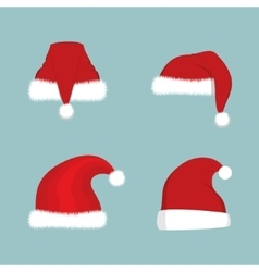 Santa Hat Set vector image