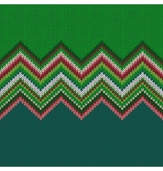 Seamless Christmas geometric knitted pattern vector image