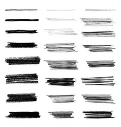 set grungy brushes vector image