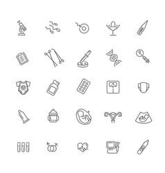 Set icons gynecology healthcare design vector