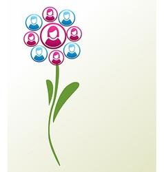 Social media people flower vector image