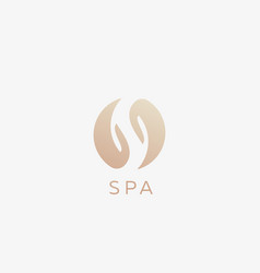 Spa letter s yin yang hands logotype relax vector