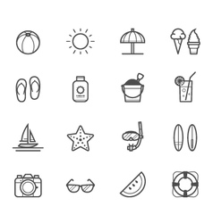 Summer icons and Beach icons vector
