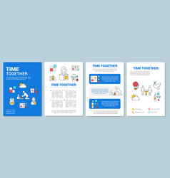time together brochure template layout kids games vector image