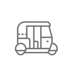 tuk tuk car traditional public transport in india vector image