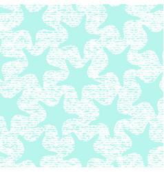 turkuoise starfish pattern with stripes vector image