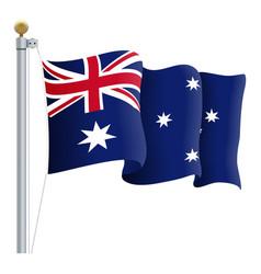 Waving australia flag isolated on a white vector