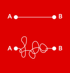 way from point a to b vector image
