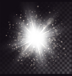 white explosion with light effects vector image