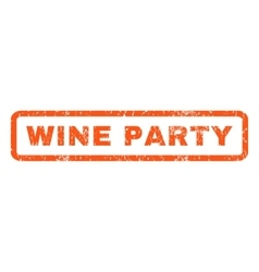 Wine Party Rubber Stamp vector image