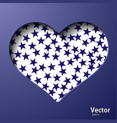 With a valentine heart vector