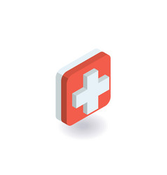 First aid medical cross icon vector