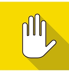 Icon hand on a yellow background vector image