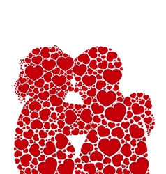lheart love silhouette couples concept vector image vector image