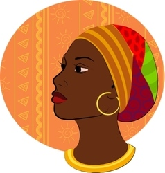 Portrait of African woman head vector image