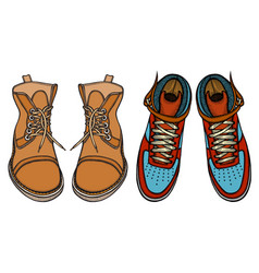 shoes boots vector image