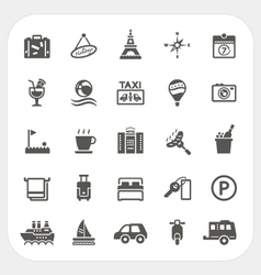 Travel and Hotel icons set vector image vector image