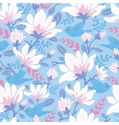 Birds among blossoms seamless pattern background vector image vector image