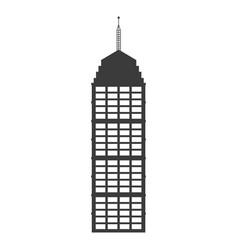 buiilding facade high architecture antenna vector image