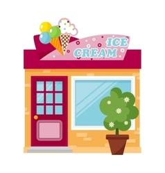 Ice cream store vector