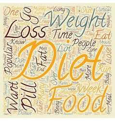 Popular Diet Comparisons text background wordcloud vector image