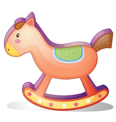 A wooden horse toy vector image vector image