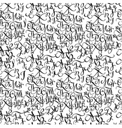 black hand drawn high quality calligraphy pattern vector image vector image